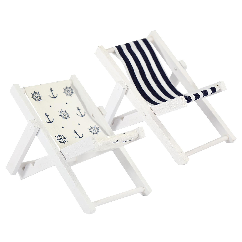 Mini Liegestuhl Deko Basteln.Details Zu Mini Liegestuhl Stuhl Strand Klappstuhl Holz Maritime Deko Accessoires Wählbar