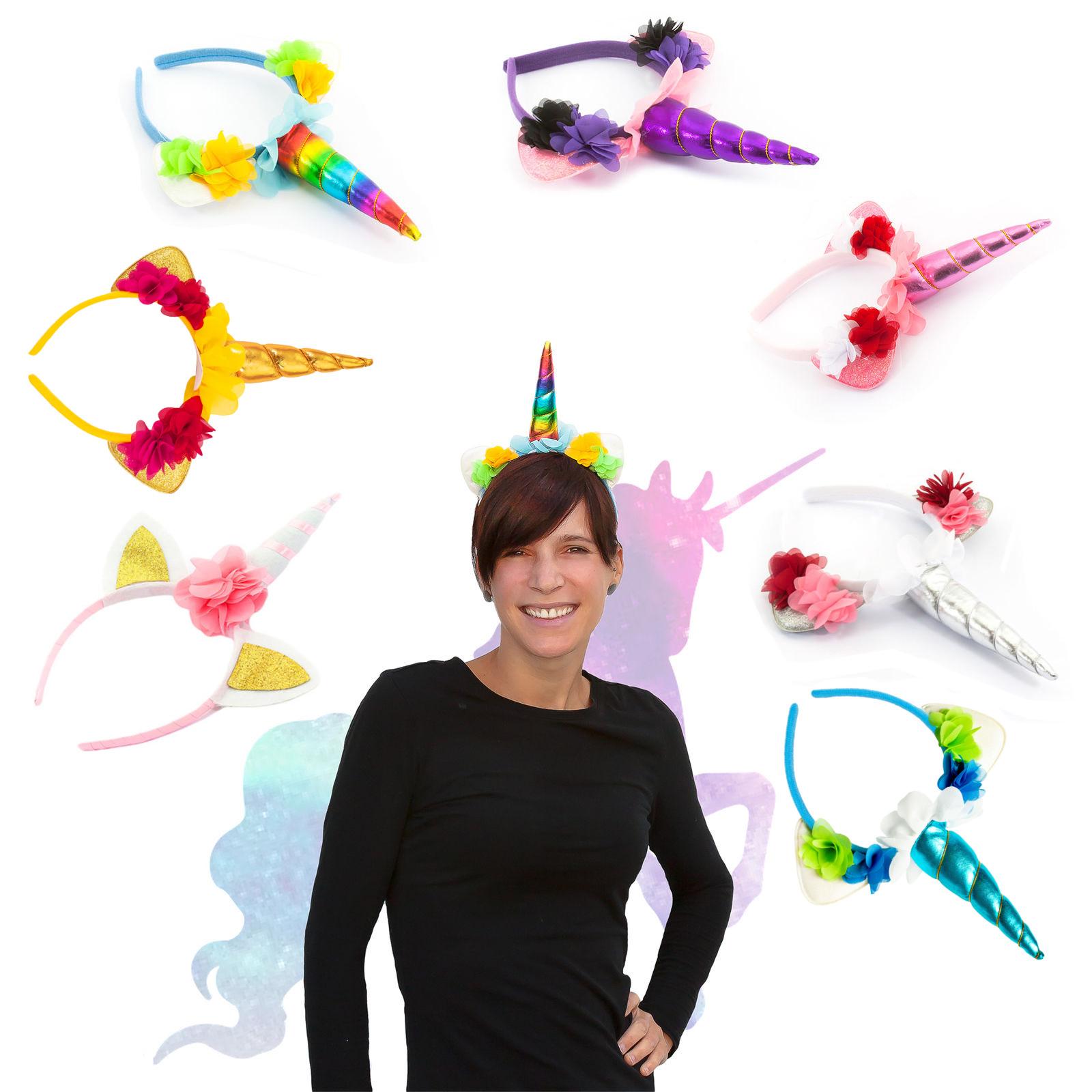 Einhorn Haarreifen Unicorn Haarreif Fasching Karneval Jga Rosa Oder