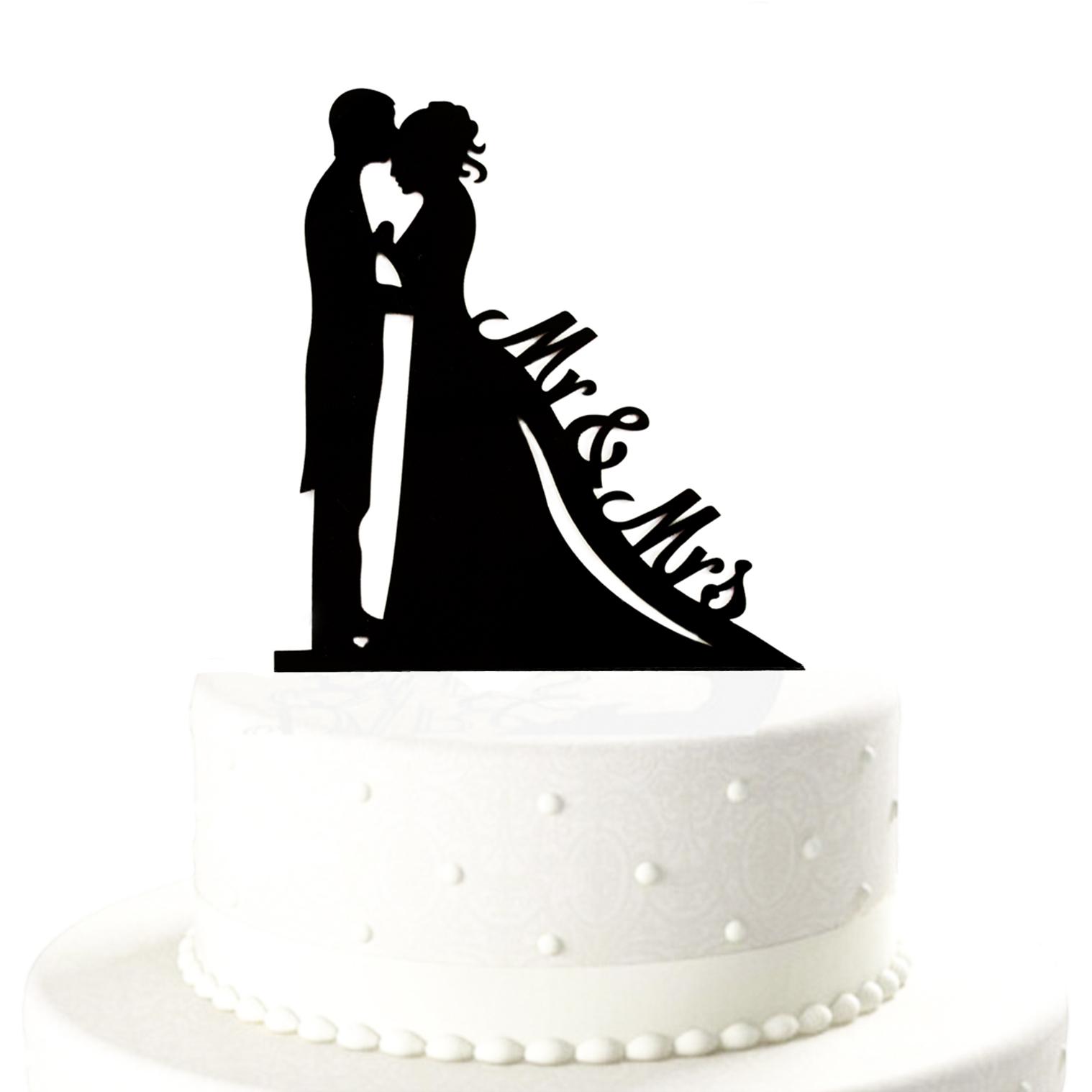 Brautpaar Mr Mrs Hochzeitstorte Topper Acryl Kuchendeckel Hochzeit