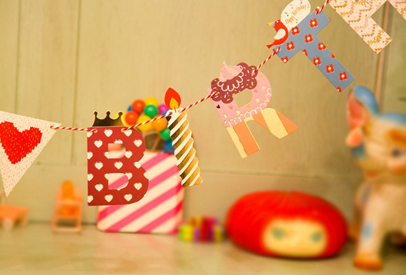 Happy Birthday Girlande Party Kinder Geburtstag
