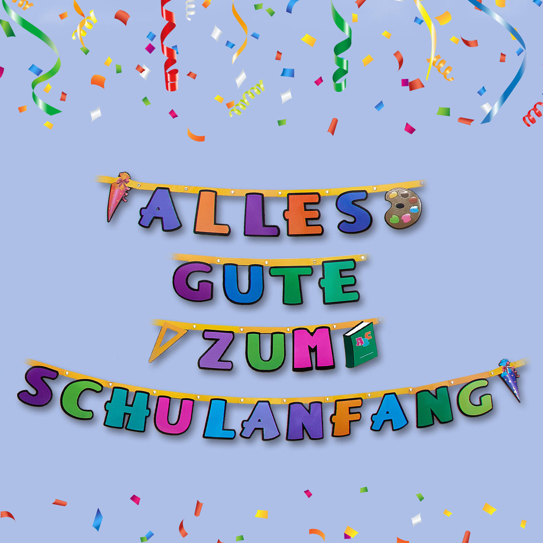 "Schuleinführung /"" Alles Gute zum Schulanfang /"" 3,1 m Girlande Kinder Party"